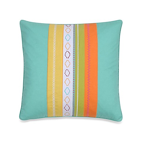 Harper Embroidered Square Throw Pillow