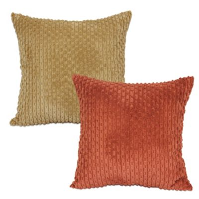 Chainstitch Square Throw Pillow in Sienna