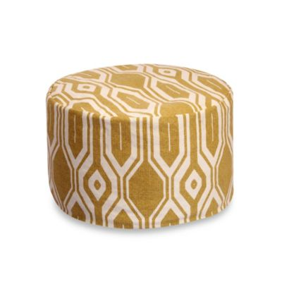 Kite 24-Inch Round Pouf in Golden Yellow