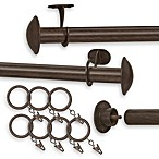 Nemesis Indoor/Outdoor Decorative Window Curtain Rod Set