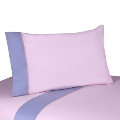 Sweet Jojo Designs Butterfly 3-Piece Twin Sheet Set in Pink/Purple