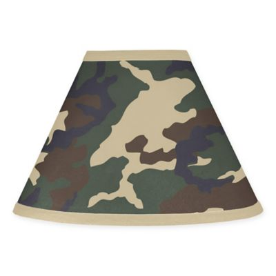 Sweet Jojo Designs Camo Lamp Shade in Green