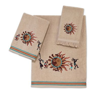 Gold Red Hand Towel
