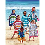 Printed Hooded Velour Kids Beach Towels