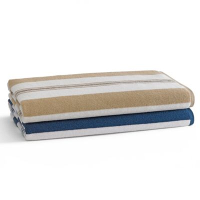 Organic Blue Bath Towels