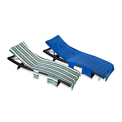 Buy striped chaise lounge chair cover in green from bed for Bathroom chaise lounge