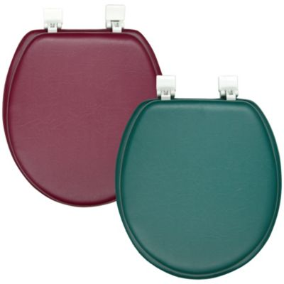 Ginsey Soft Padded Round Toilet Seat in Green