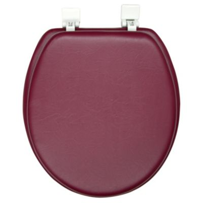 Ginsey Soft Padded Round Toilet Seat in Burgundy