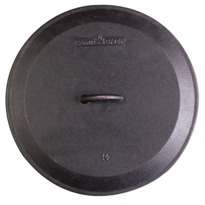 Camp Chef 10-Inch Pre-Seasoned Round Cast Iron Skillet Lid
