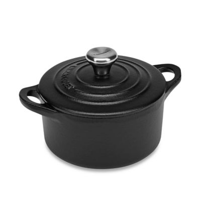 Le Creuset® 0.33-Quart Mini Round Cocotte with Stainless Steel Knob in Flame