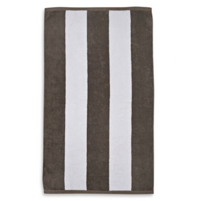 "Resort Stripe 40"" x 70"" Jacquard Beach Towel in White"