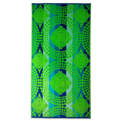 Green Medallion Oversized Beach Towel