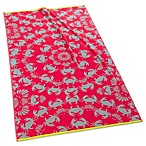 Echo Design™ Crab Jacquard Beach Towel in Red
