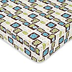 CoCaLo Peek A Boo Monsters Fitted Crib Sheet