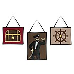 Sweet Jojo Designs Pirate Treasure Cove 3-Piece Wall Hanging Set