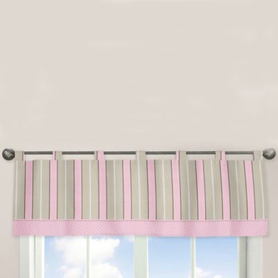 Sweet Jojo Designs Mod Dots Window Valance in Pink