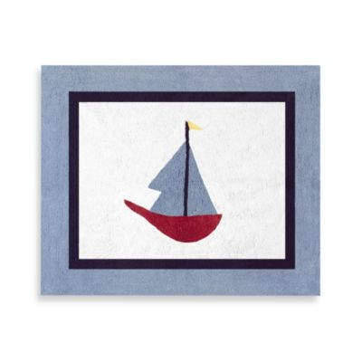 Sweet Jojo Designs Come Sail Away 36-Inch x 30-Inch Accent Rug