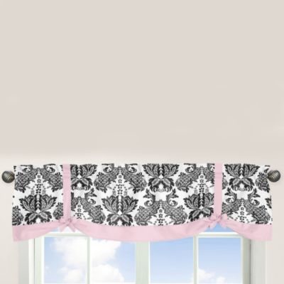 Pink Black Window Valance