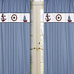 Sweet Jojo Designs Come Sail Away Window Panel (Set of 2)