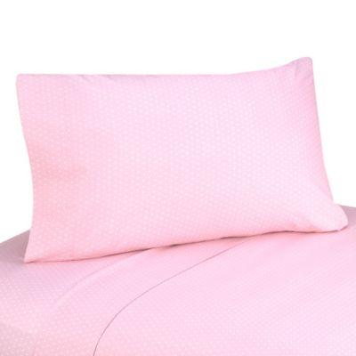 Sweet Jojo Designs Mod Dots 4-Piece Queen Sheet Set in Pink/Chocolate