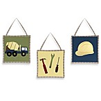 Sweet Jojo Designs Construction Zone 3-Piece Wall Hanging Set