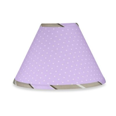 Sweet Jojo Designs Mod Dots Lamp Shade in Purple