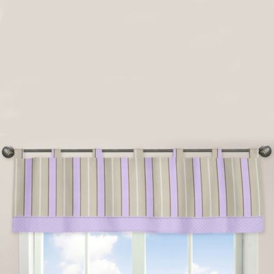 Sweet Jojo Designs Mod Dots Window Valance in Purple/Chocolate