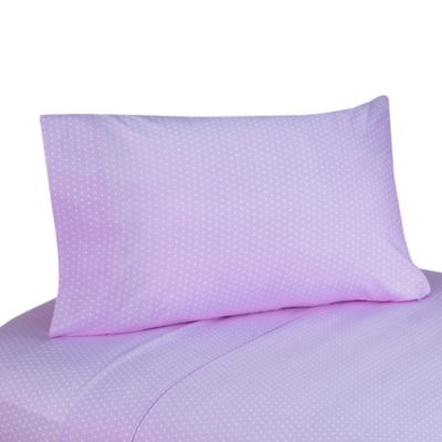 Sweet Jojo Designs Mod Dots 3-Piece Twin Sheet Set in Purple/Chocolate