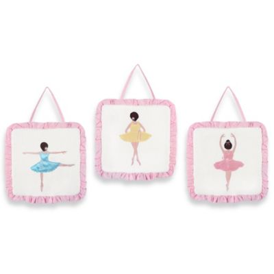 Sweet Jojo Designs Ballerina 3-Piece Wall Hanging Set