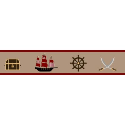 Sweet Jojo Designs Pirate Treasure Cove Wallpaper Border