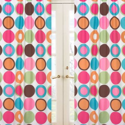 Sweet Jojo Designs Deco Dot Large Dot Print Window Panel Pair