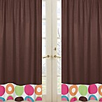 Sweet Jojo Designs Deco Dot Chocolate Window Panel Pair