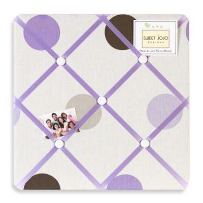 Sweet Jojo Designs Mod Dots Fabric Memo Board in Purple/Chocolate