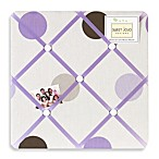 Sweet Jojo Designs Mod Dots Collection Fabric Memo Board in Purple/Chocolate