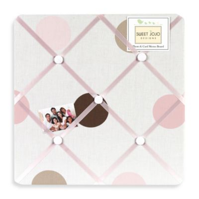 Sweet Jojo Designs Mod Dots Fabric Memo Board in Pink/Chocolate