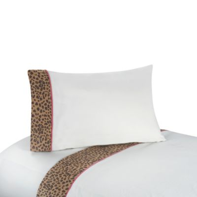 Sweet Jojo Designs Cheetah Girl Twin Sheet Set