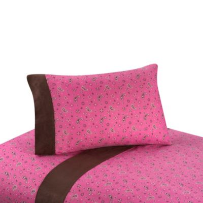 Sweet Jojo Designs Cowgirl Bandana Print Sheet Set
