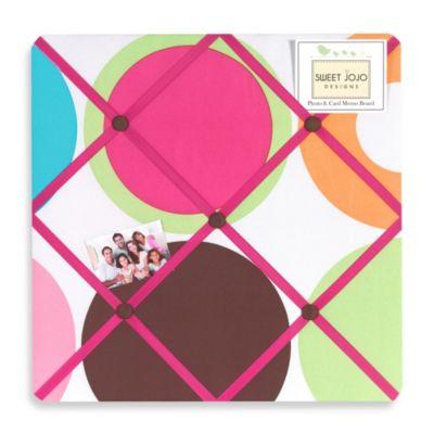 Sweet Jojo Designs Deco Dot Fabric Memo Board