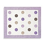 Sweet Jojo Designs Mod Dots Collection Floor Rug in Purple/Chocolate