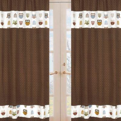 Sweet Jojo Designs Night Owl Window Panel Pair