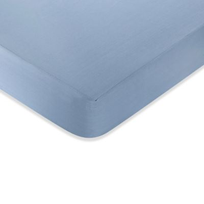 Sweet Jojo Designs Nautical Nights Fitted Crib Sheet in Light Blue