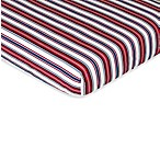 Sweet Jojo Designs Nautical Nights Fitted Crib Sheet in Stripe