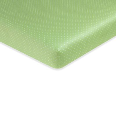 White Sheets Green Polka Dots
