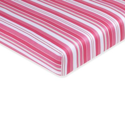 Pink Stripe Crib Sheet
