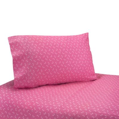Sweet Jojo Designs Happy Owl Sheet Set in Pink
