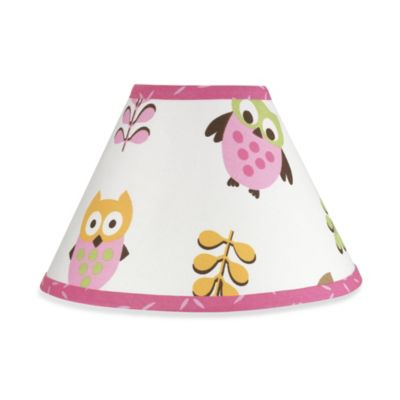 Sweet Jojo Designs Happy Owl Lamp Shade in Pink