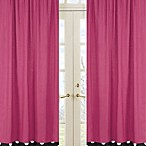 Sweet Jojo Designs Hot Dot Window Panel Pair in Pink
