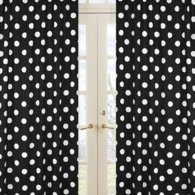 Polka Dot Window Panel Pair