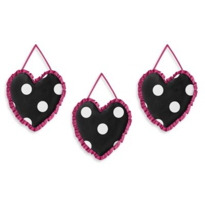 Sweet Jojo Designs Hot Dot 3-Piece Wall Hanging Set