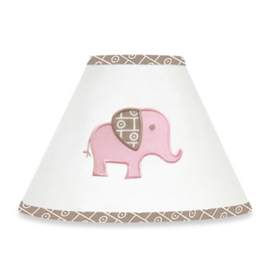 Sweet Jojo Designs Mod Elephant Lamp Shade in Pink/Taupe